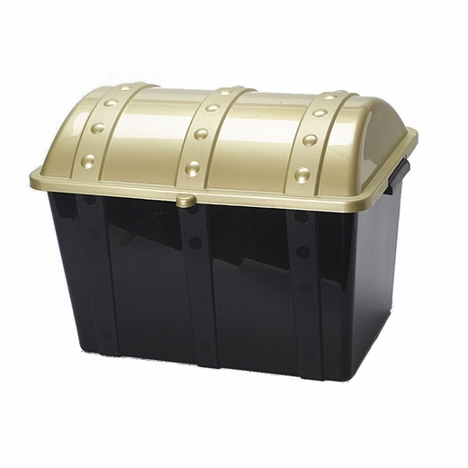 "14"" Plastic Pirate Treasure Chest"