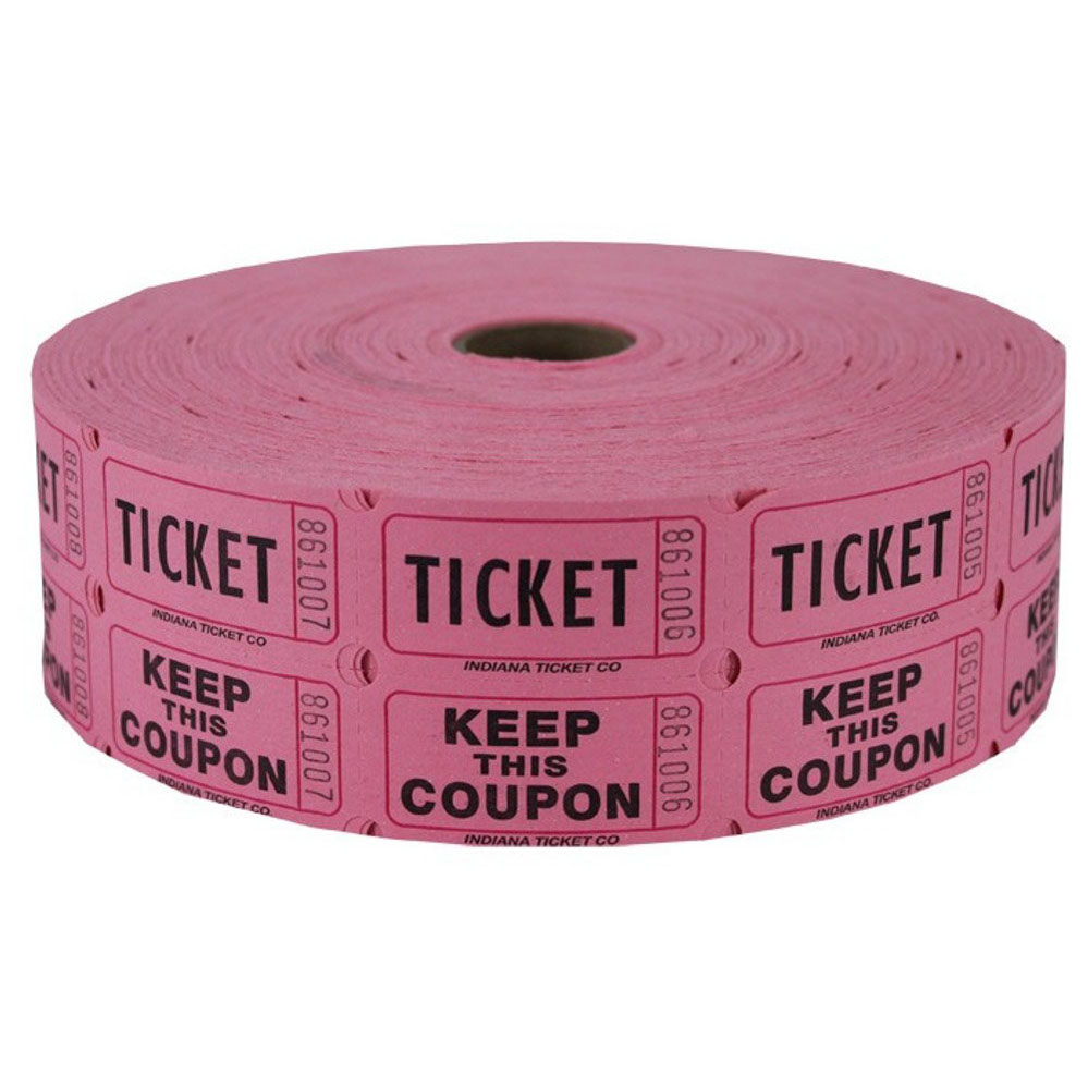double raffle ticket roll pink double raffle ticket roll