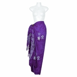 Starfish Batik Sarong-Purple