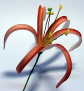 """4""""  SPIDER LILY ROLLED PETALS FOAM FLOWER HAIR PICK"""