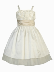 Angelica Knee Length Flower Girl Dress