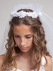 Cynthia First Communion Veil with Floral Crown