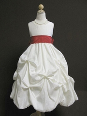 Amelia Bubble Taffeta Flower Girl Dress