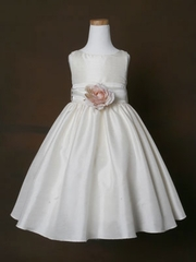 Poly Silk Flower Girl Dress