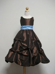 Taffeta Flower Girl Dress w/ Detachable Sash