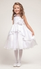 White Princess Overlay Flower Girl Dress