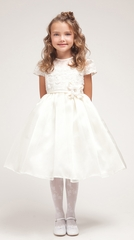 Embroidered Bodice Flower Girl Dress