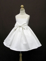 Faith Bow Accented  Flowergirl Dress