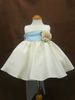 Ivory & baby blue flower girl Dress