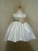 Ivory w/ sage flower girl Dress