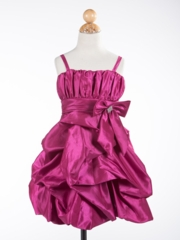 Mya Bubble Taffeta Girl Dress