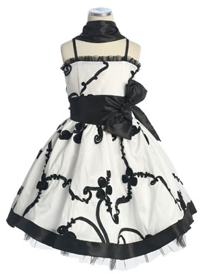 Jocelyn White Flower Girl Dress