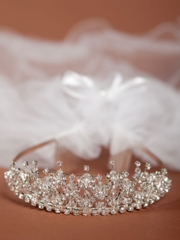 Laila First Communion Veil with Crown
