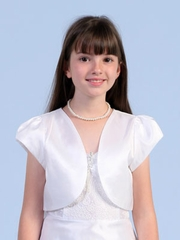 Satin bolero jacket for communion