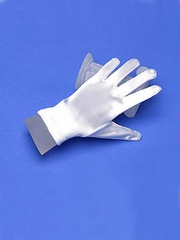 Satin short glove for flower girl