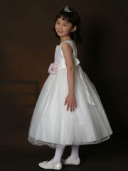 Flower girl Dress with squared neckline