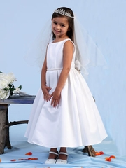 Lillian Lace Embroidered Flower Girl Dress