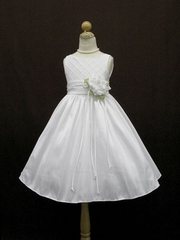 Andrea Diamond Quilted Flowergirl Dress