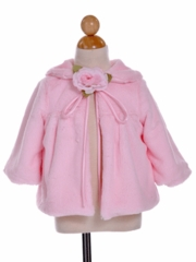Brenda Fur Coat for Flower Girl