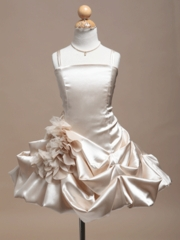 Riley Satin Gathered Skirt Flower Girl Dress