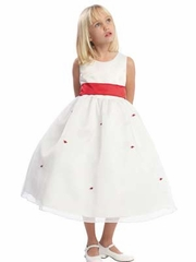 Carol Small Flowers Skirt  Flower Girl Dress