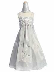 Sandra A-line Satin Flower Girl Dress