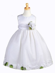 Sierra Tulle with Floral Petals Flower Girl Dress