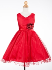 Courtney Red Holiday Girl Dress