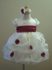 London Burgundy infant flower girl Dress
