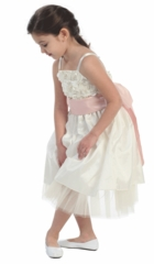 Jordyn Satin Bubble Flower Girl Dress
