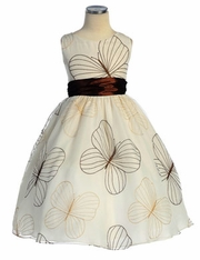 Kate Embroidered Organza Flower Girl Dress