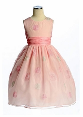 Serenity Polka-Dot Flower Girl Dress