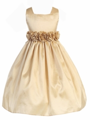 Lucy Square Neck Flowergirl Dress