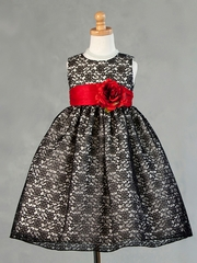 Edda Floral Lace Flower Girl Dress