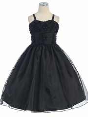 Josephine Sequince Embroidred Flower Girl Dress