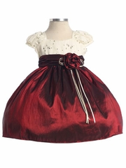Glitter Mesh Top with Taffeta Flowergirl Dress