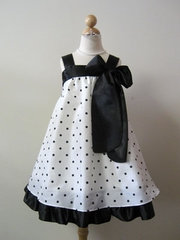 Loretta Baby-doll Polka-dot Summer Dress