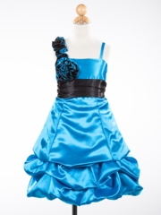 Aubrey  Rosette Accent  Flower Girl Dress