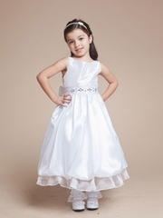 Jocelyn Bubble Hem Flower Girl Dress