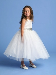 Taffeta with Tulle Communion Dress