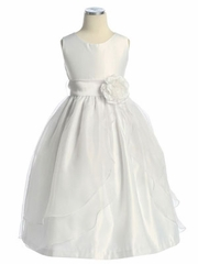 Erica Satin with Organza Dress