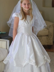 Marcia Satin Communion Dress