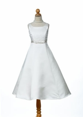 Melanie Satin First Communion Dress