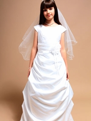 Samantha Side Pick Up Communion Dress