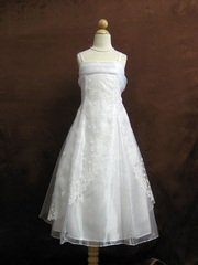 White Organza Junior Bridesmaid Dress