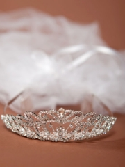 Amaya First Communion Veil with Crown