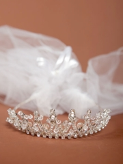 Keira First Communion Veil with Crown