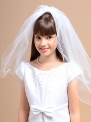 Mariana White Veil for Communion