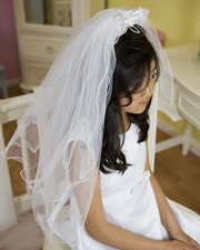 Inexpensive First Communion Veil