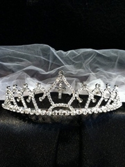 Mallory Crown with A Cross Veil